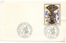 France N° 1493 Y. Et T. Paris Cachet Commémoratif XXII Semaine Du Laboratoire Du 27 Et 28/05/1967 - Marcophilie (Lettres)