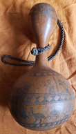CALEBASSE - MALI - PAYS DOGON - GOURDE - GRAVURES ZOOMORPHE ET ANTHROPOMORPHE  -ETHNOLOGIE - SYMBOLES - Art Africain