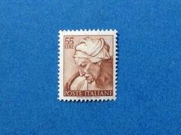 1961 ITALIA MICHELANGIOLESCA 55 LIRE SIBILLA CUMANA CAPPELLA SISTINA FRANCOBOLLO NUOVO ITALY STAMP NEW MNH** - 1961-70: Mint/hinged