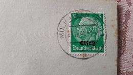 Militaria Timbre Sur Enveloppe Deutsches Reich Elsass Cachet Mulhausen (Mulhouse) 1941 - Usati