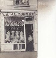 CARTE PHOTO  MAGASIN LILIAL CORSET    PARI S 1 RUE HALEVY     1908 - Paris (09)