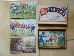 Petite Boite De 4 Puzzles Pour Enfants, Les Jeux Alain-Claude Vers 1945 - Other Collections
