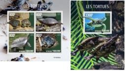 Togo 2019 Turtles Fauna Turtle Prehistoric Animals MS+S/S TG190582 - Célébrités