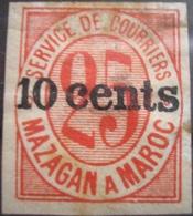 MAROC - Postes Locales - Mazagan à Marrakech N° 45Ad * (MH) Non Dentelé RARE Cote Y&T 240 € - Marocco (1891-1956)