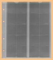 KOBRA 10x Münzblätter F20L (ohne Zwischenblatt) Für 20 Münzen Bis 34 Mm Ø (z.B. 2, 5 DM, 50 Ct, 2 €) - Zubehör