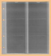 KOBRA 10x Münzblätter F6L (ohne Zwischenblatt) Für 6 Münzen Bis 72x64 Mm - Zubehör