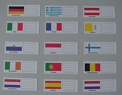 KOBRA 10x Länderschildchen Belgien - Zubehör