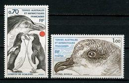 TAAF 1978 N° 81/82 ** Neufs MNH Superbes C 3.10 € Faune Oiseaux Manchots Gorfou Pétrel Birds Animaux - Terres Australes Et Antarctiques Françaises (TAAF)