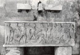 Amalfi - Cartolina Antica SARCOFAGO, LE NOZZE DI PELEO E TETI, Chiostro Paradiso, Anno 1965 - R24 - Sculptures