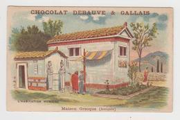 AC439 - CHROMO CHOCOLAT DEBAUVE & GALLAIS - Habitation Humaine - Maison Grecque - Other