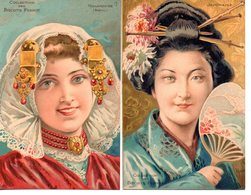 Illustrateur : Art Nouveau :  Tamagno : Lot De 6 Cartes Publicité Biscuits Pernot - Autres Illustrateurs