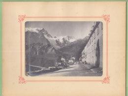 LA GRAVE, Vers 1900 : Le  Glacier De La Meije, Photo Originale Format 13 X 18 Cm Dans Son Cadre - Lieux
