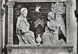 Verna, Arezzo - Cartolina Antica L'ANNUNZIATA Di Andrea Della Robbia, Anno 1960 - R24 - Sculture
