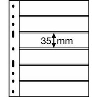 Plastic Pockets OPTIMA, 6-way Division, Black - Clear Sleeves