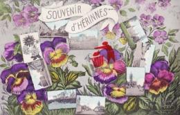 Souvenir D'HERINNES - Superbe Carte Colorée - Pecq