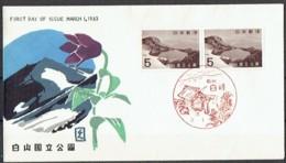 Mountains. Japan 1963.  Nationalpark  Hakusan. Michel 817 FDC. - Other