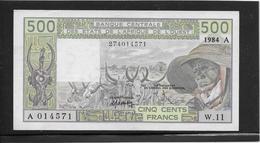 Côte D'Ivoire - 500 Francs - Pick N°106Ag - SPL - Elfenbeinküste (Côte D'Ivoire)