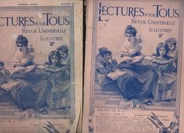 LECTURE POUR TOUS  ANNEES 1911/1907/1912/1908.. 40 NUMEROS AU TOTAL - Journaux - Quotidiens