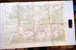 ©1871 CHIMAY CARTE D ETAT MAJOR COUVIN CERFONTAINE SIVRY-RANCE MOMIGNIES MARIEMBOURG GONRIEUX PESCHE SIVRY SAUTIN S376 - Cartes Topographiques