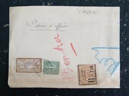 FRAGMENT ENVOI EN FRANCHISE POSTALE ALGER BOURSE ALGERIE SUR SEMEUSE ET MERSON - Algérie (1924-1962)