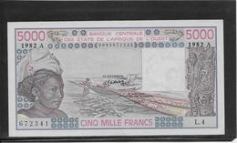 Côte D'Ivoire - 5000 Francs - Pick N°108Ai - NEUF - Elfenbeinküste (Côte D'Ivoire)