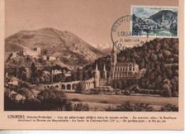 CARTE MAXIMUM    LOURDES EDITION BOURGOGNE  N° YVERT  ET TELLIER 976 TRES BON ETAT - 1950-59