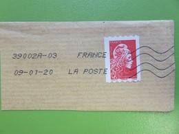 Timbre France YT 1602 AA - Marianne D'Yseult Digan - L'engagée - LP Non Dentelé Sur Fragment - 2018 - 2018-... Marianne L'Engagée