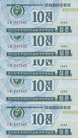 COREE DU NORD 10 CHON 1988 UNC P 25 ( 5 Billets ) - Corée Du Nord