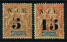 Nueva Caledonia Nº 65/6 Nuevo*/(*) Cat.30€ - Unused Stamps