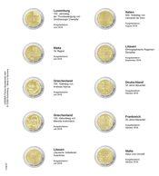 Lindner 1118-27 Vordruckblatt Für 2 Euro-Gedenkmünzen: Luxemburg 2019 Bis Malta 2019 - Supplies And Equipment