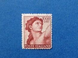1961 ITALIA MICHELANGIOLESCA 1000 LIRE EVA CAPPELLA SISTINA FRANCOBOLLO NUOVO ITALY STAMP NEW MNH** - 1961-70:  Nuovi