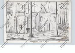 BELARUS / WEISSRUSSLAND - BLISNIKI Nähe Naratschsee, 1916. 1.Weltkrieg, Zerstörte Kirche, Zeichnung - Weißrussland