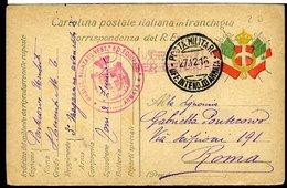 SP13 POSTA MILITARE UFF. INTEND. III ARMATA   1916 SU FRANCHIGIA - 1900-44 Vittorio Emanuele III