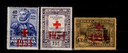 Portugal Portofreiheitsmarken Rotes Kreuz Ex 47 - 52  MLH */**  A 30 - Franchise