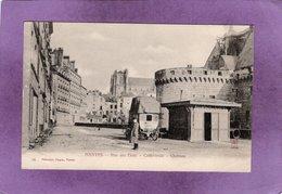 44 NANTES Rue Des Etats Cathédrale Château  Diligence Arret Du Tramway - Nantes