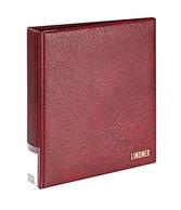 Lindner 3504-W Slipcase For Ring Binder PUBLICA LS, Wine Red - Stamps