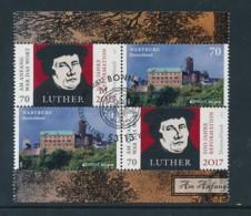 GERMANY Mi. Nr. 3300, 3310 500. Jahrestag Der Reformation , Europa -aus MH 107- ESST Bonn- Eckrand Unten Rechts - Used - [7] Federal Republic