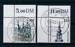 GERMANY Mi. Nr. 2156-2157 Sehenswürdigkeiten - Eckrand Oben Links - Used - [7] République Fédérale