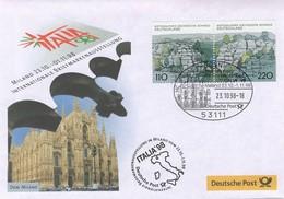 Duitsland, Geïllustreerde Brief Met Mi 1997-98 Uit Blok 44  Jaar 1998,  Prachtig Gestempeld - BRD