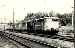 """TRAIN TEE51 """"Goethe"""" Francfort-Paros ,loco BB 16037.,photo Format Carte Ancienne à Vaires En 1972. - Trains"""