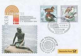 Duitsland, Geïllustreerde Brief Met Mi 2017 + 2019   Jaar 1998, Toeslag,  Prachtig Gestempeld - BRD