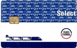 CARTE A PUCE CHIP CARD CARTE TRANSPORT CARTE PASSAGE EUROTUNEL SELECT TRANSPORT MARCHANDISE - Biglietti Di Trasporto