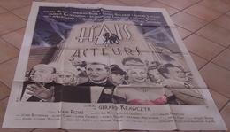 AFFICHE CINEMA ORIGINALE FILM JE HAIS LES ACTEURS KRAWCZYK GALABRU BLANC BLIER 1986 TBE MILLET - Posters
