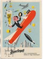 Publicité Pour La Bière PILSNER URQUEL Avec Vignette Au Dos Pour Le Centenaire - Reclame