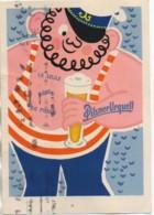 Publicité Pour La Bière PILSNER URQUEL Avec Vignette Au Dos Pour Le Centenaire (2) - Reclame