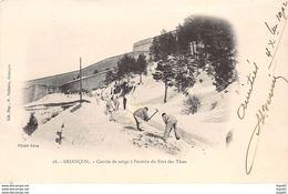 BRIANCON - Corvée De Neige à L'entrée Du Fort Des Têtes - Très Bon état - Briancon