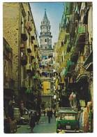 2668 - NAPOLI STRADA CARATTERISTICA E CAMPANILE DEL CARMINE ANIMATA 1987 - Napoli