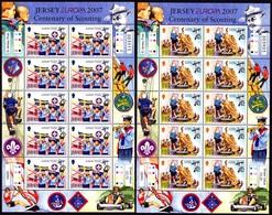 Europa Cept - 2007 - Jersey - 2.Sheetlet Of 10 Set - (Scouting) ** MNH - 2007
