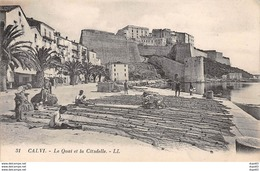 CALVI - Le Quai Et La Citadelle - Très Bon état - Calvi