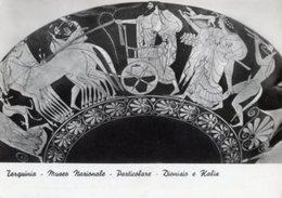 Tarquinia - Cartolina Antica DIONISIO E KALIS (partic.) Museo Nazionale, Anno 1966 - R24 - Arts